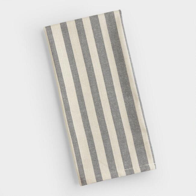 Gray Ombre Stripe Kitchen Towel
