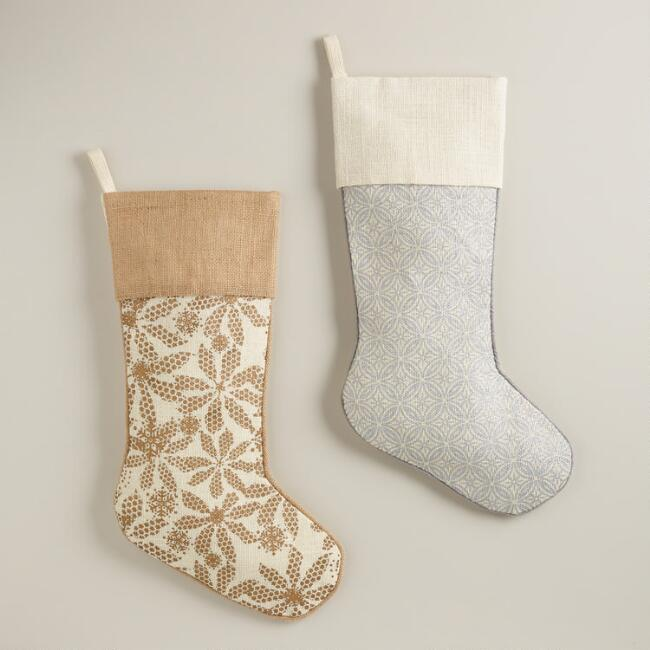 Metallic Jute Stocking