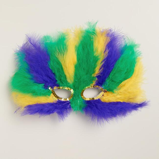 Mardi Gras Fancy Feather Mask