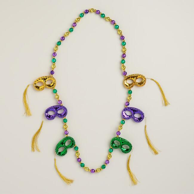 Masks with Tassels Mardi Gras Beads