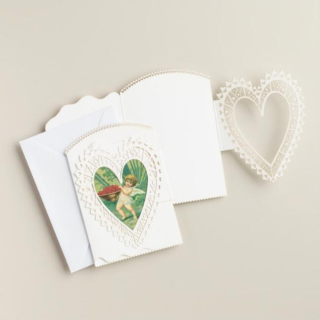Valentine's Day Laser-Cut Notecards, Set of 10
