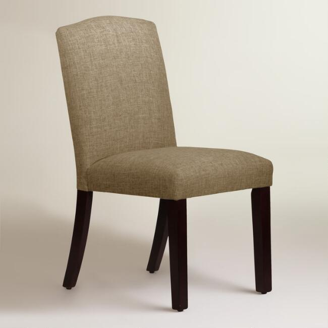 Linen-Blend Rena Upholstered Dining Chair
