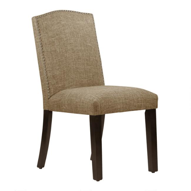 Linen-Blend Abbie Upholstered Dining Chair