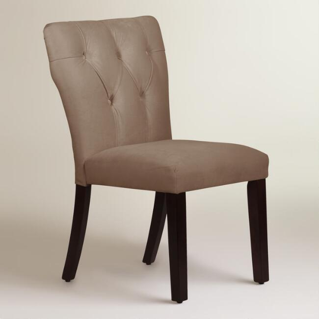 Velvet Tufted Gabie Upholstered Dining Chair