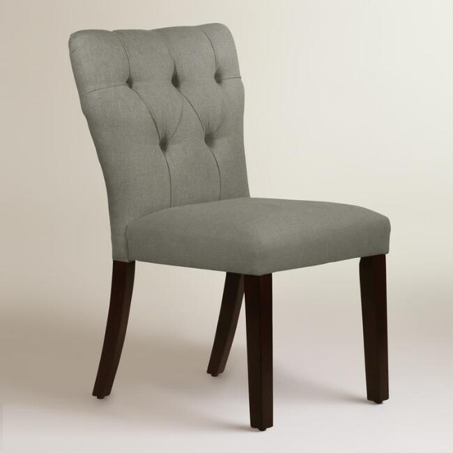 Linen Tufted Gabie Upholstered Dining Chair