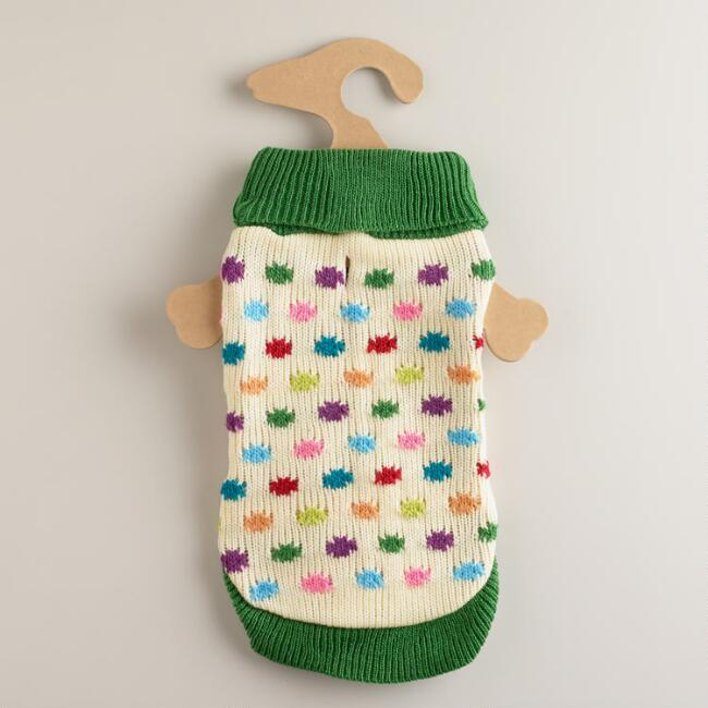 Small Polka Dots Dog Sweater