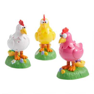 Koo Koo Clucking Chicken Candy Poopers Set Of 3