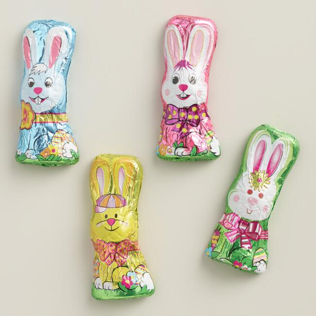 Madelaine Squatty Milk Chocolate Rabbit Candies, Set of 4