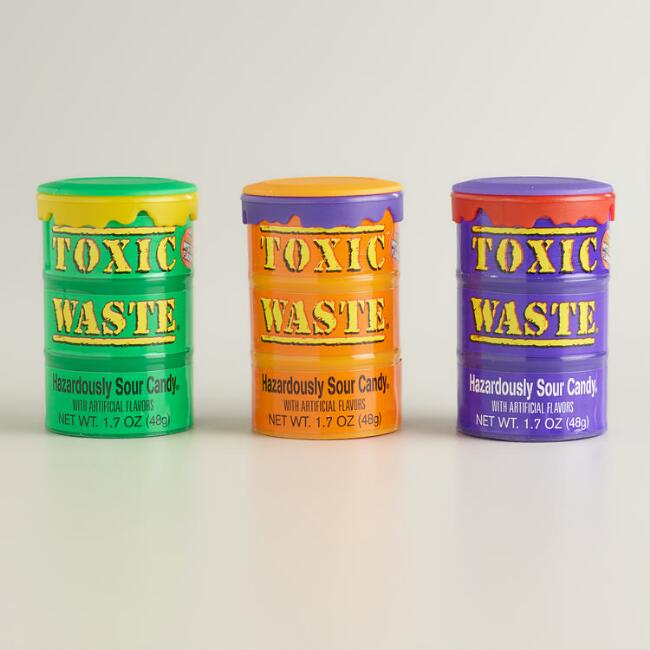 Sour Toxic Waste Color Drum Gum
