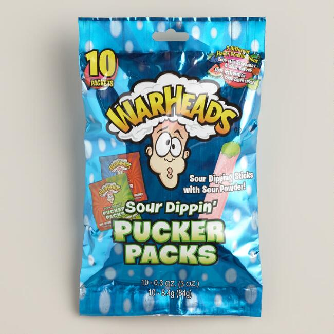Warheads Sour Dippin' Pucker Packs Candy