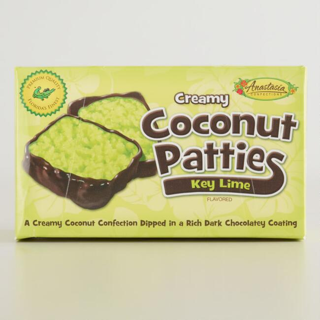 Anastasia Key Lime and Coconut Dark Chocolate Patty