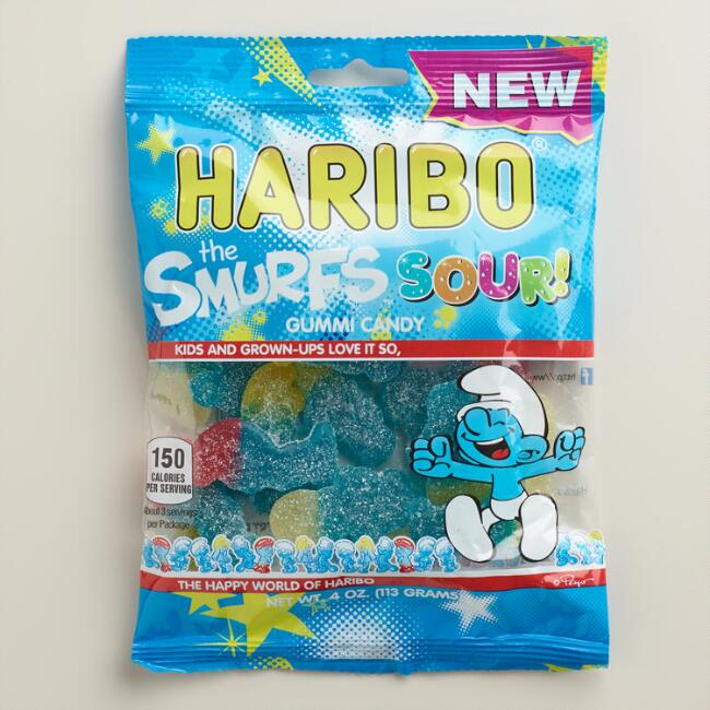 Haribo Sour Smurfs Gummy Candy
