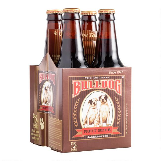 4 Pack Bulldog Root Beer Set Of 6