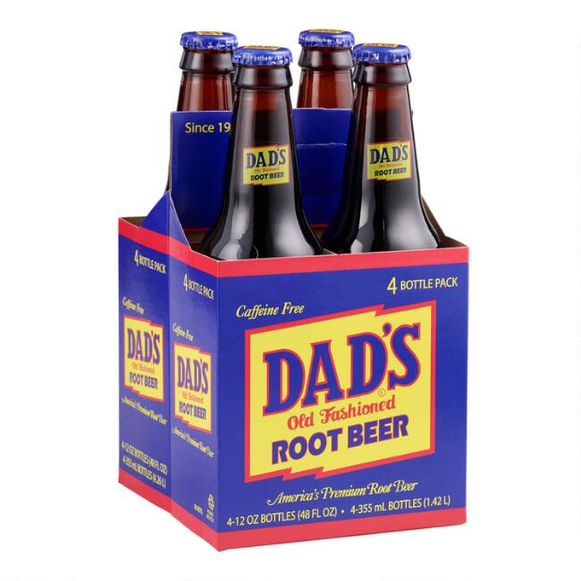 Dad's Root Beer 4 Pack Set of 6