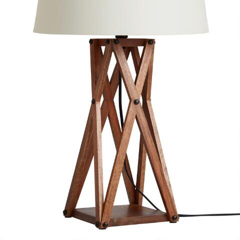 v1 - Wood X Table Lamp Base World Market