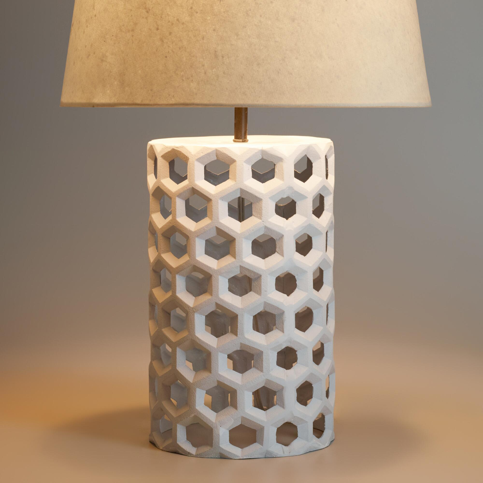 White honeycomb table lamp base world market geotapseo Image collections