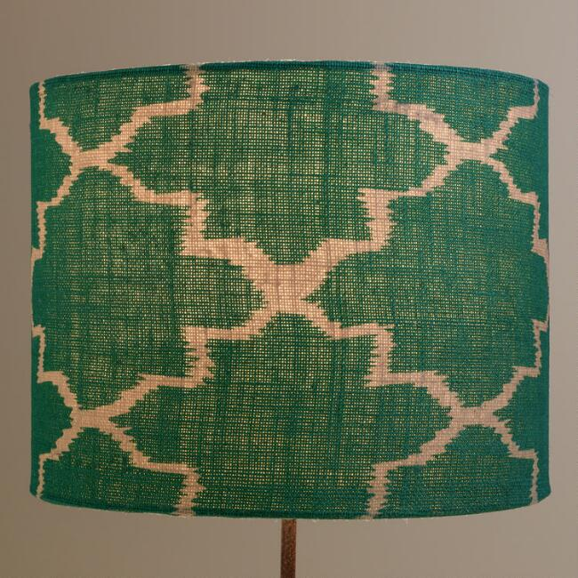 Turquoise Gate Drum Table Lamp Shade