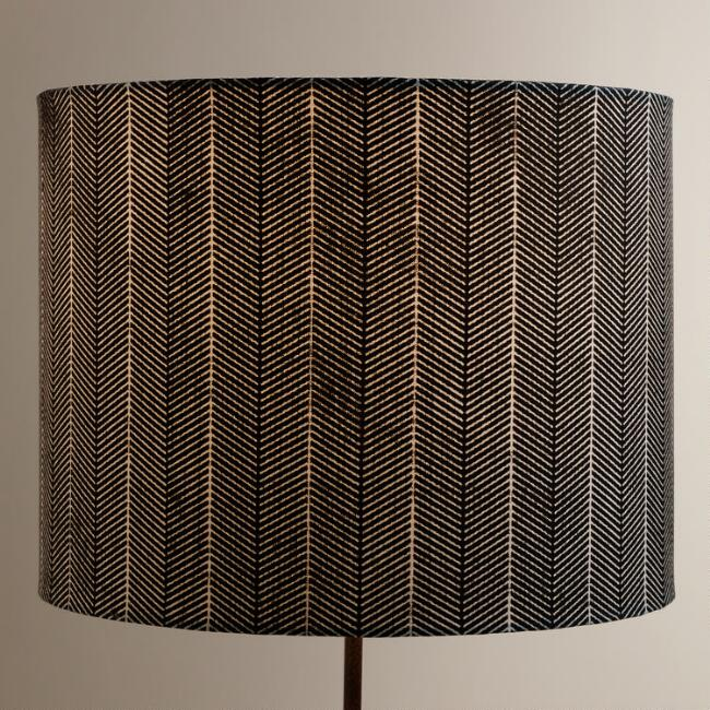 Blue Arrow Drum Table Lamp Shade