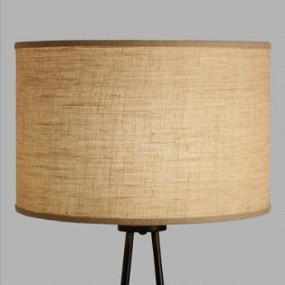 Natural burlap drum table lamp shade world market natural burlap drum floor lamp shade aloadofball Image collections