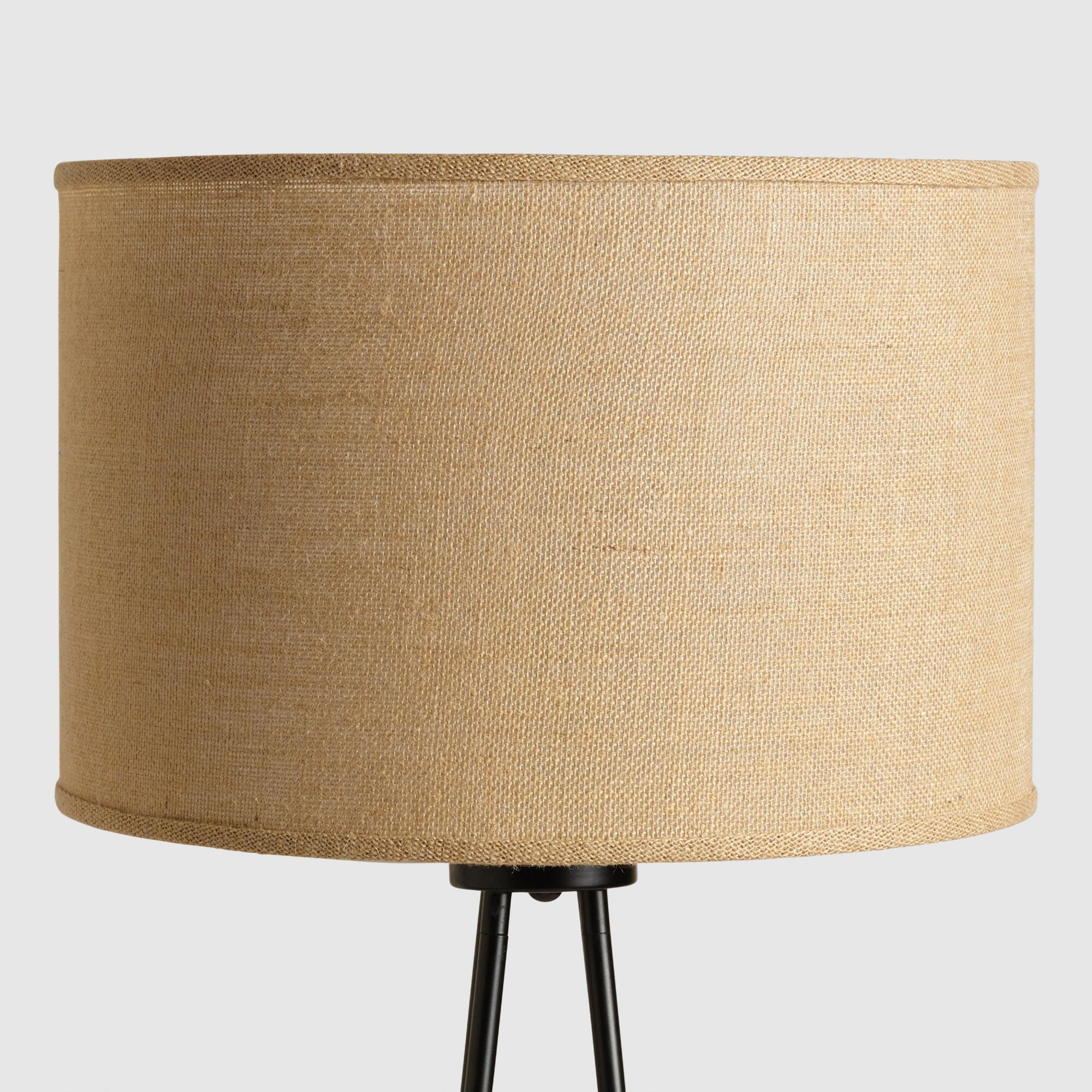 Natural Burlap Drum Floor Lamp Shade World Market
