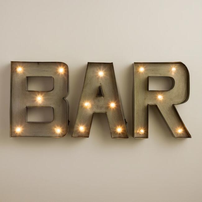 Bar Led Marquee Sign World Market