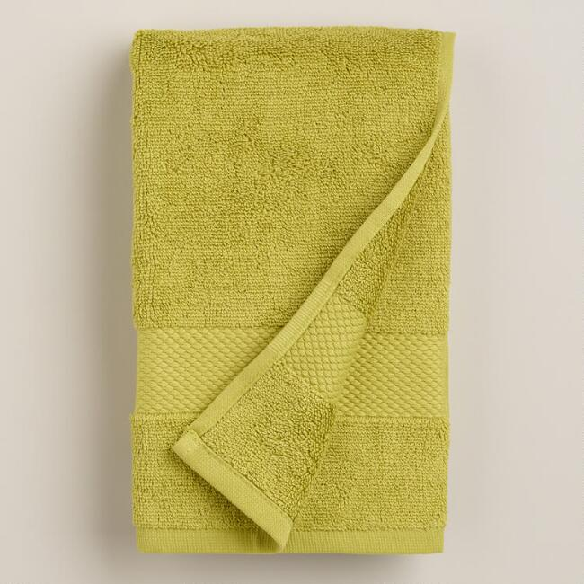 Green Oasis Cotton Hand Towel