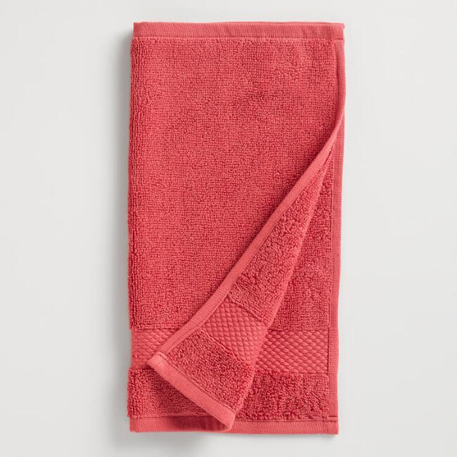 Coral Cotton Washcloth, Set of 2