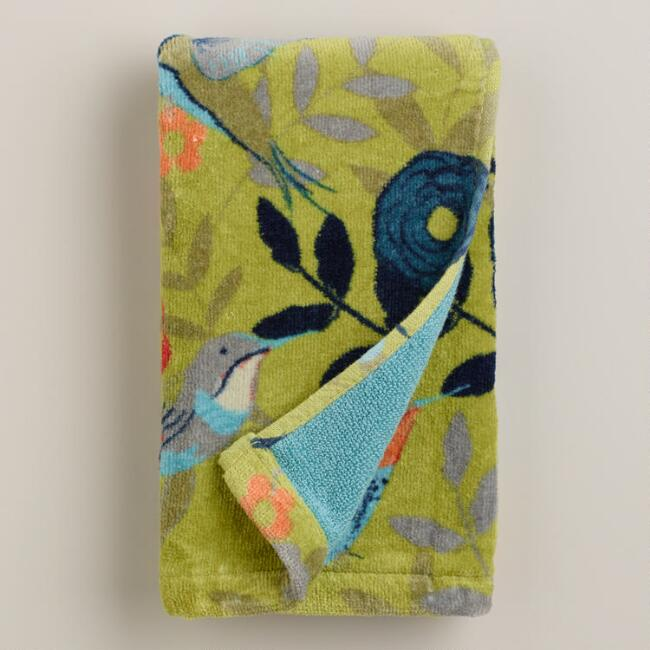Woodland Birds Printed Hand Towel