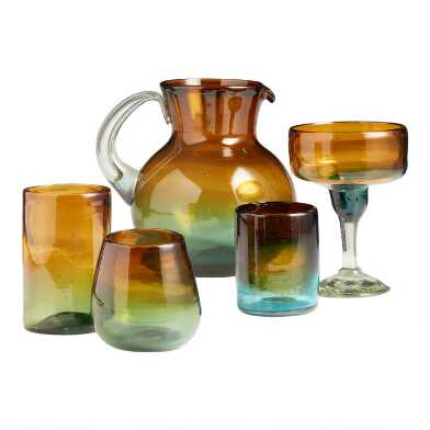 Ombre Monterey Glassware Collection