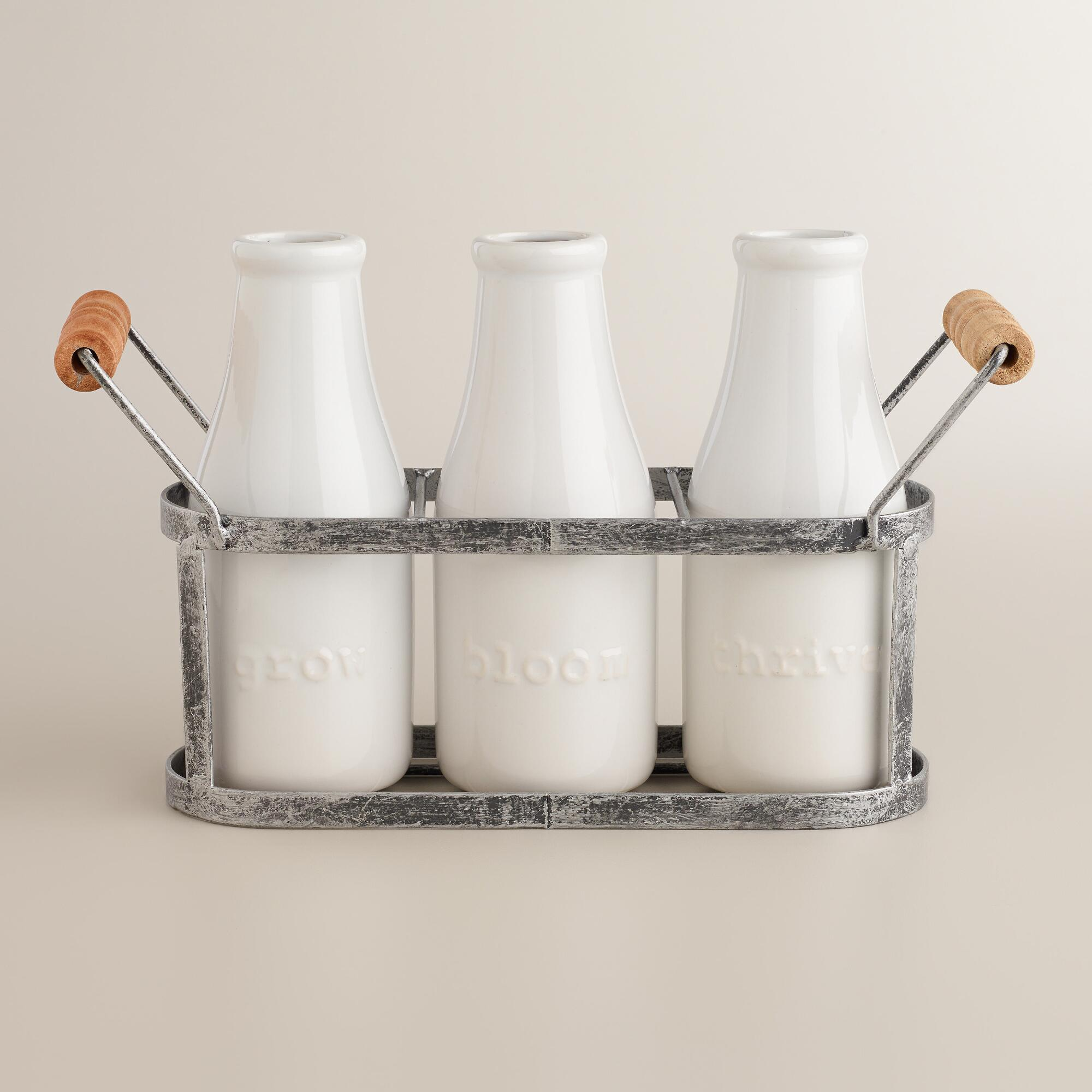 Bloom thrive and grow milk bottle vases with holder world market reviewsmspy