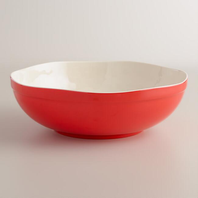 Melamine Warm Bettina Scalloped Serving Bowl