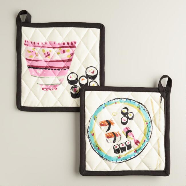 Sushi Potholders, Set of 2