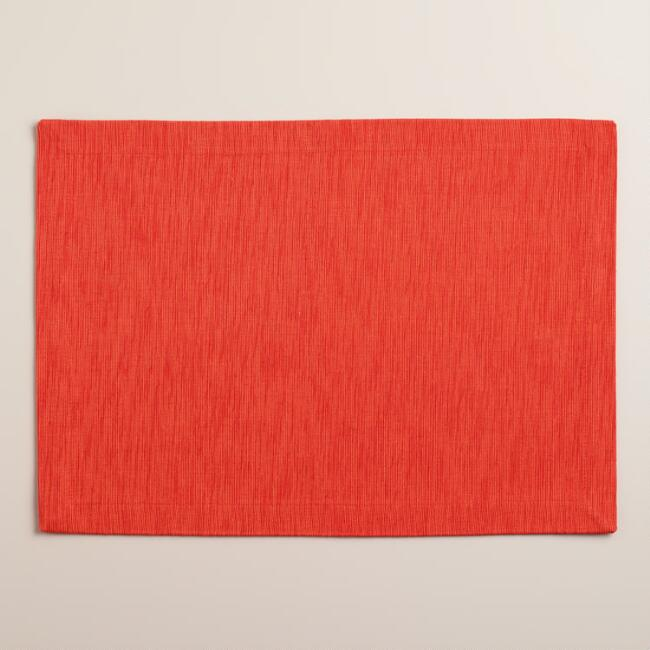Coral Khadi Placemats, Set of 4