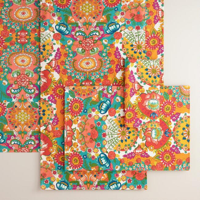 Floral Bettina Table Linen Collection