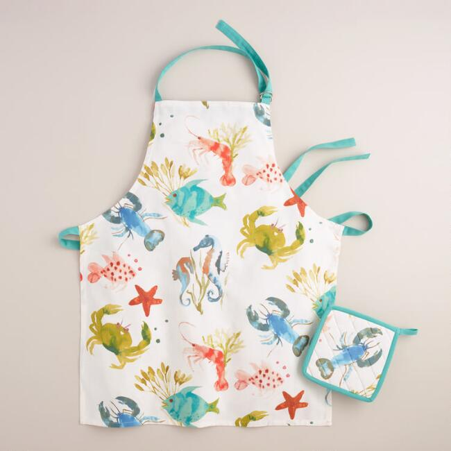 Sea Life Kitchen Linen Collection