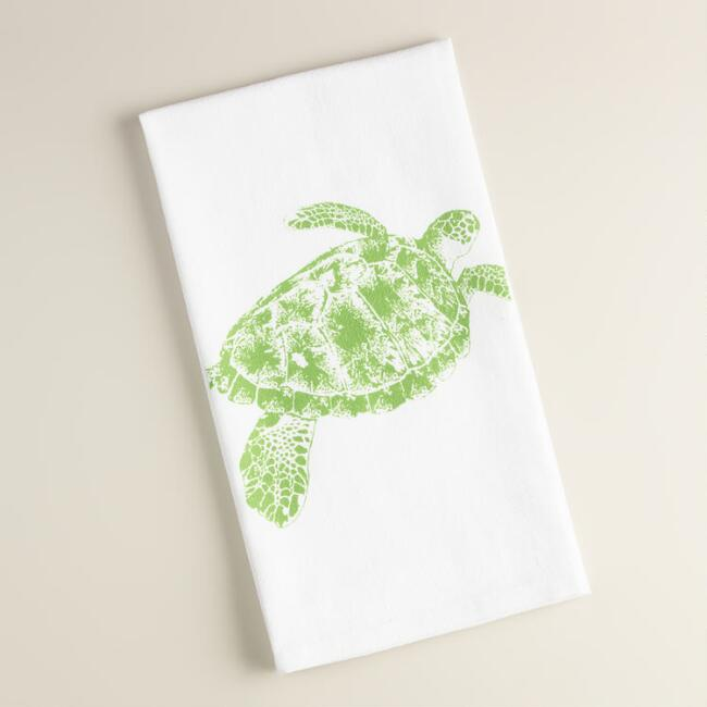 Turtle Flour Sack Kitchen Towels, Set of 2