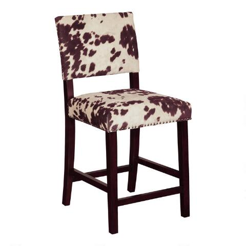 Awesome Brown Cow Print Addison Counter Stool Gmtry Best Dining Table And Chair Ideas Images Gmtryco