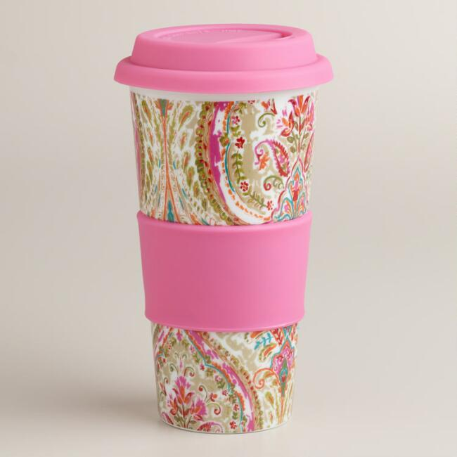 Ogee Paisley Ceramic Travel Not-A-Paper Cup