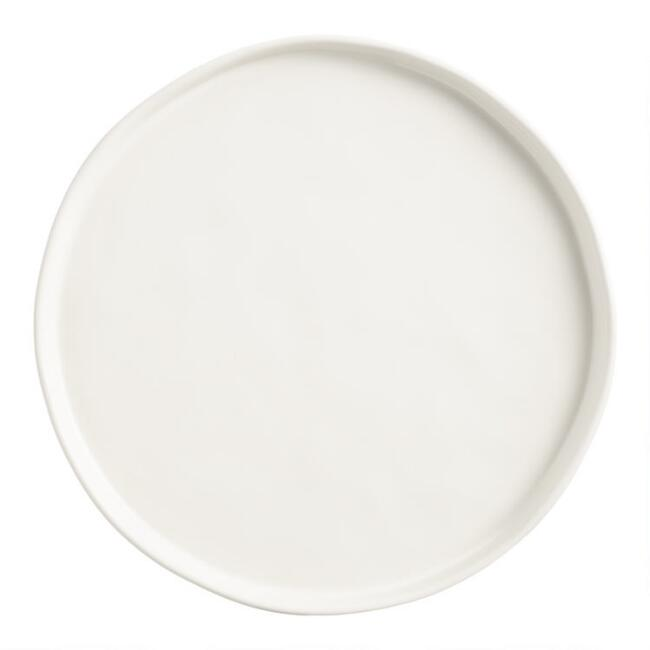Ivory Organic Rimmed Salad Plates Set Of 6