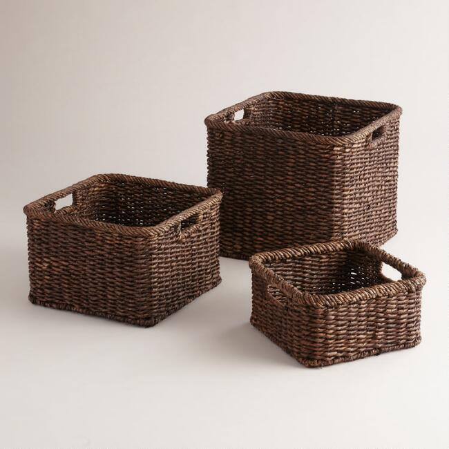 Espresso Square Samantha Utility Baskets