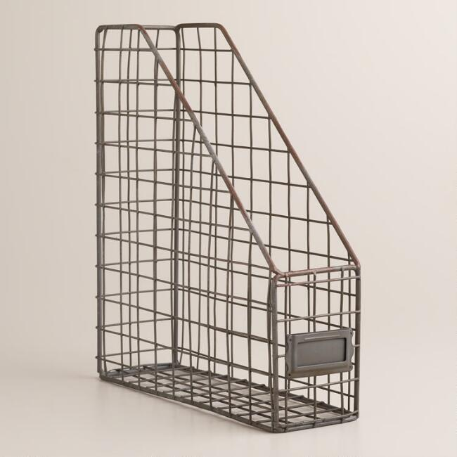 Zinc Wire Jamison Magazine Holder