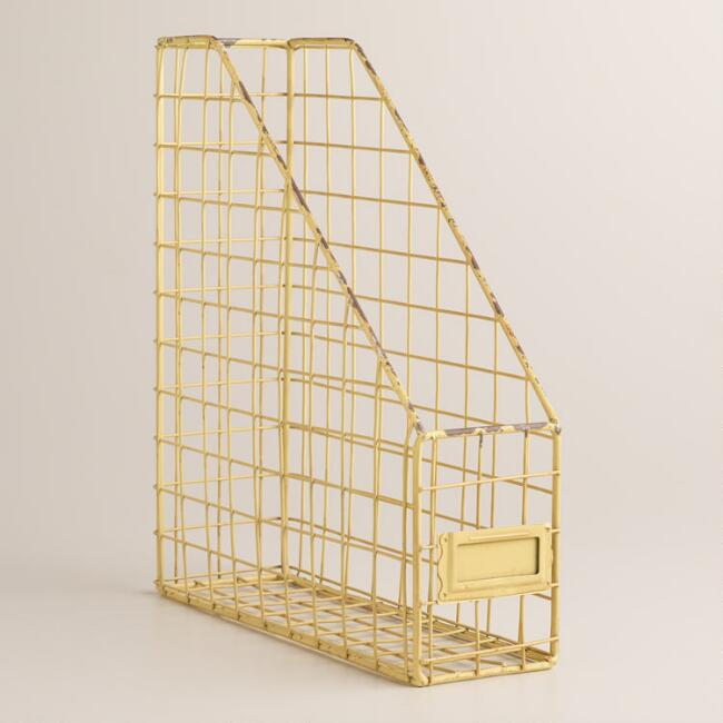 Yellow Wire Jamison Magazine Holder