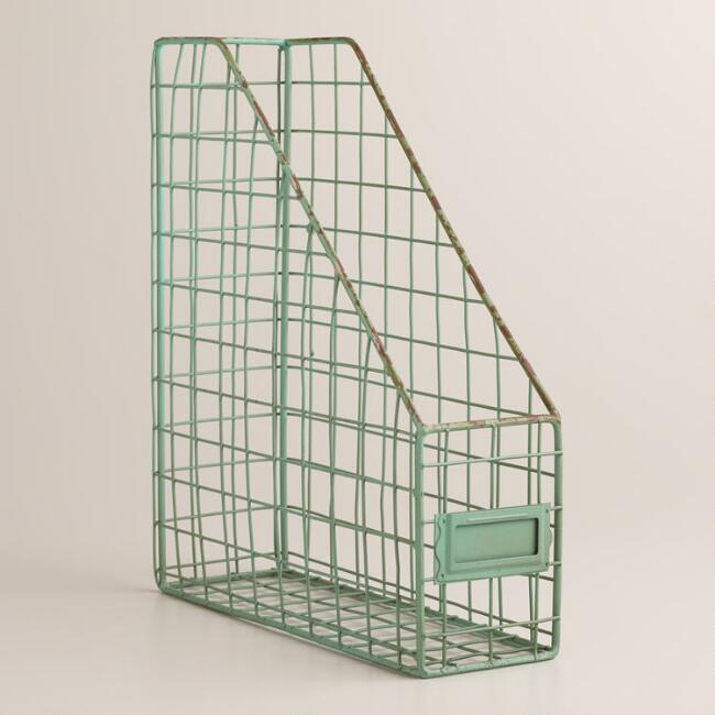 Blue Wire Jamison Magazine Holder