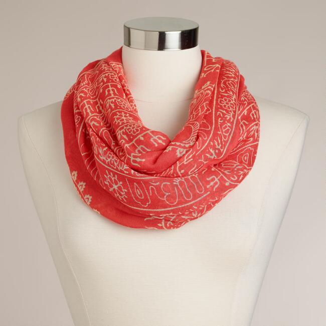 Coral Infinity Prayer Shawl