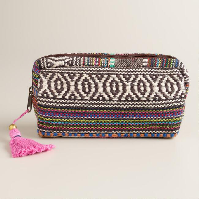 Pink and Brown Carpet Pouch