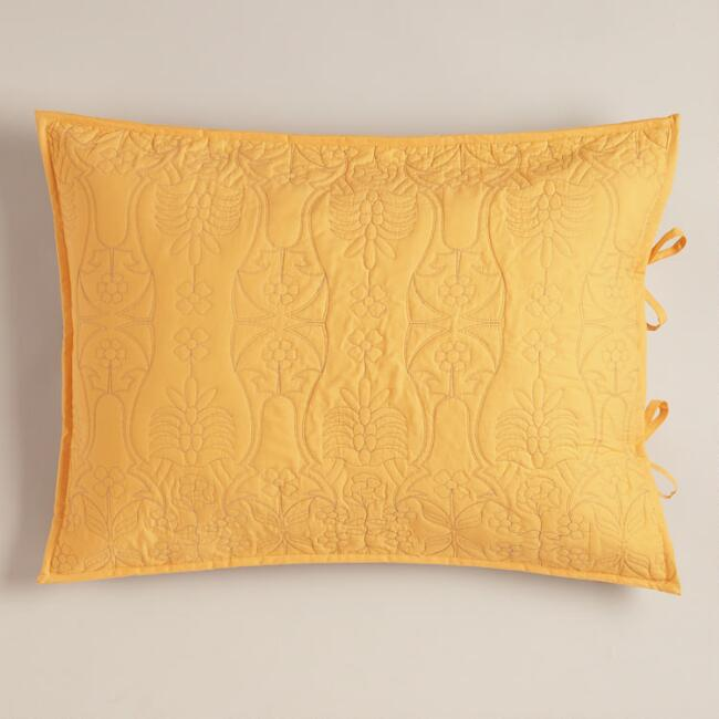 Marigold and Frost Gray Simone Pillow Shams, Set of 2