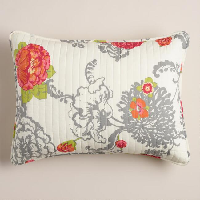 Laurent Floral Pillow Shams, Set of 2