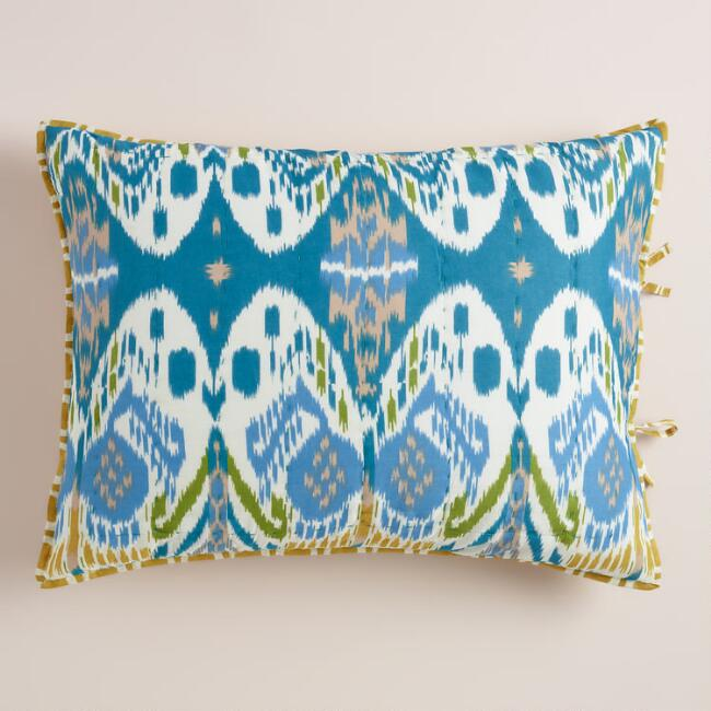 Blue Ikat Lexie Pillow Shams, Set of 2