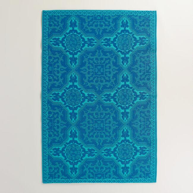 Mykonos Blue Sufi Tiles Rio Indoor-Outdoor Mat