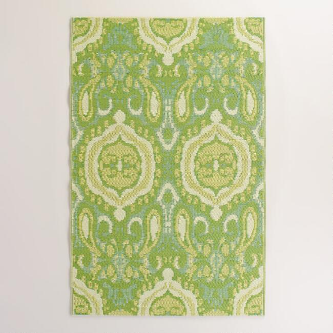 Green Bungalow Ikat Rio Indoor-Outdoor Mat